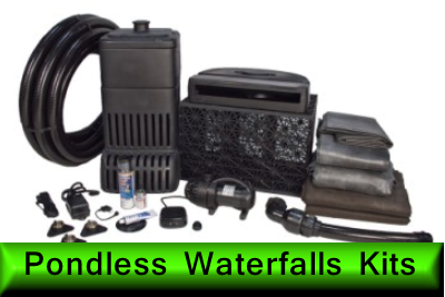 pondless waterfall kits