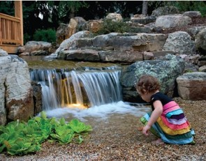 pondless waterfall saftey
